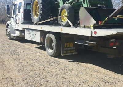 TRK Towing a farm implement