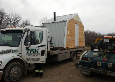 TRK Towing a shack