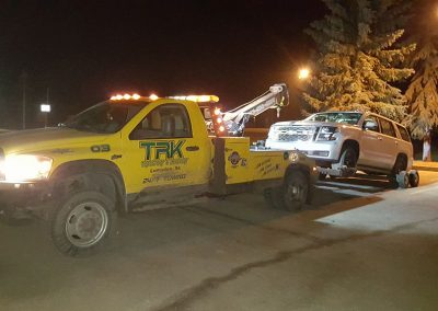 TRK Towing at night
